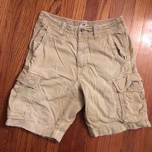 American eagle khaki cargo shorts size 31
